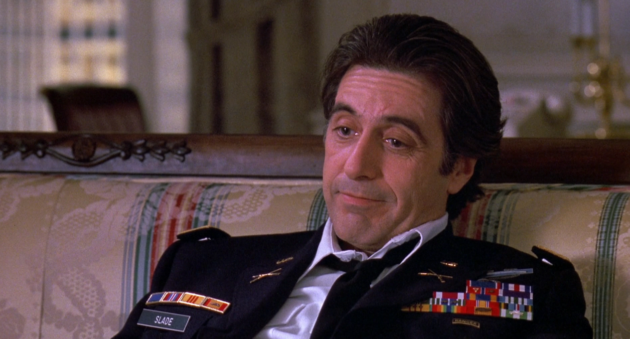 Al Pacino ser surmulen ut i En kvinnas doft.