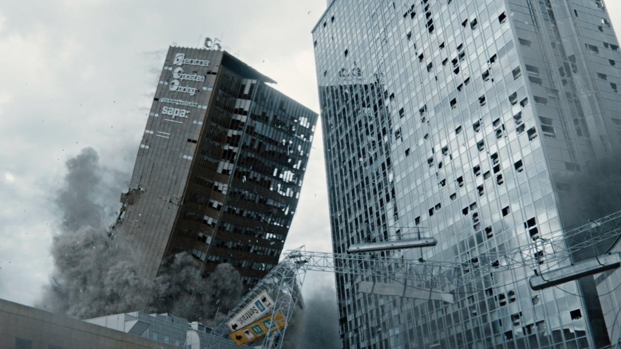 Två byggnader faller samman under en jordbävning i denna norska filmen