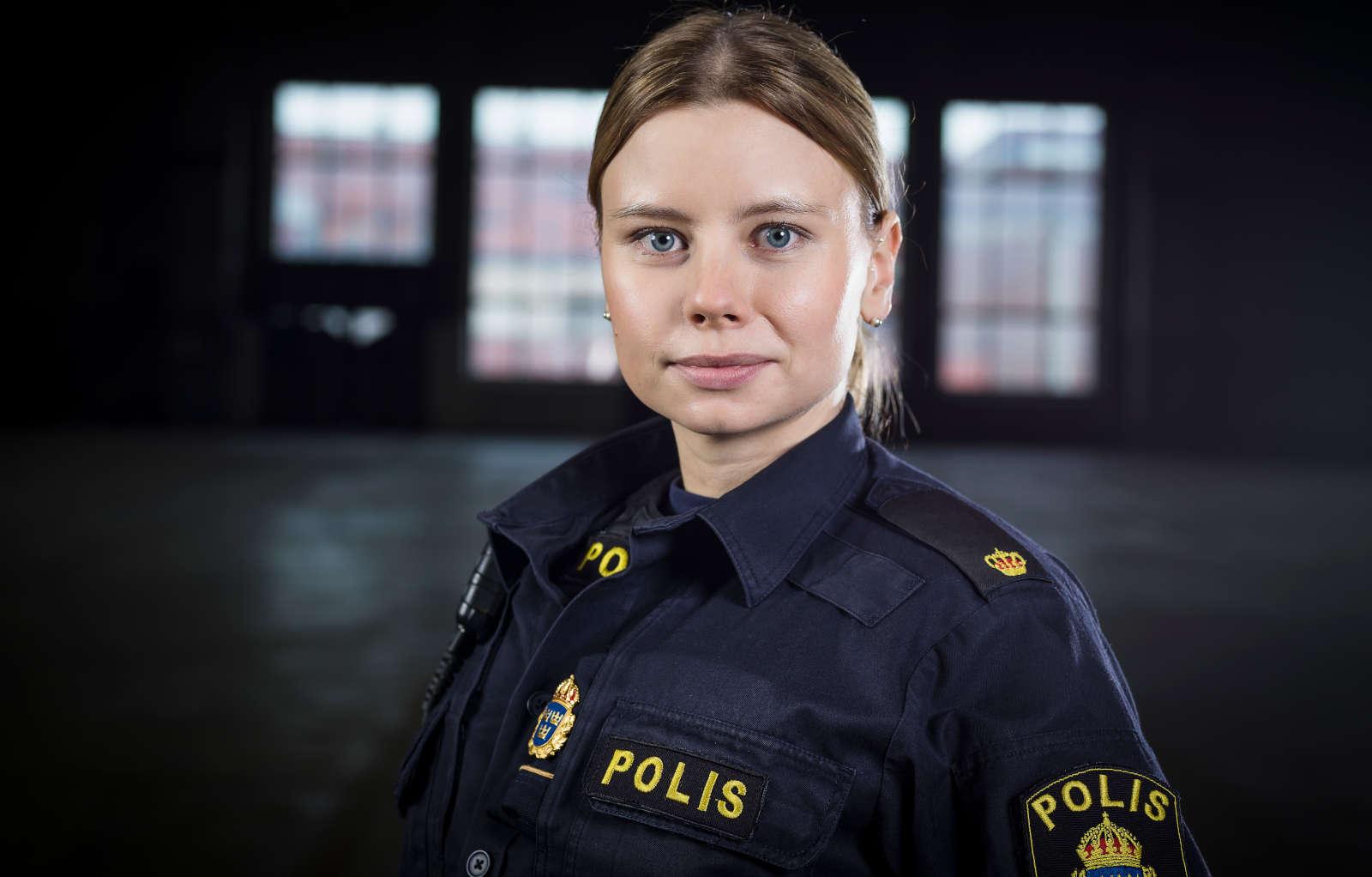 Amanda Jansson i Tunna blå linjen.