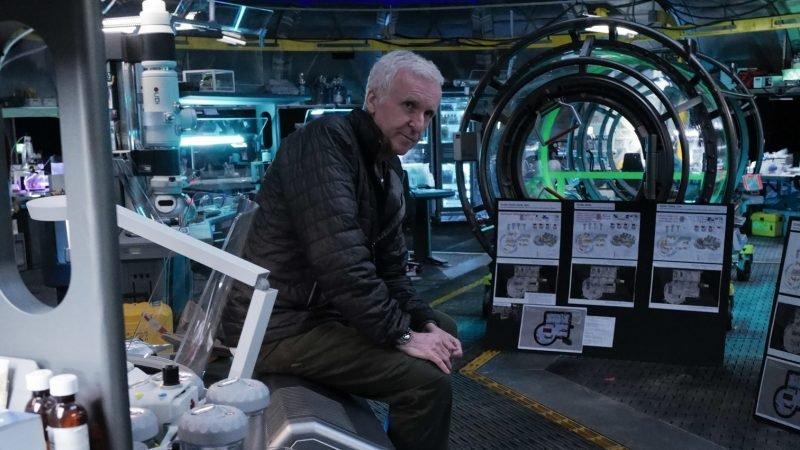 """James Cameron under inspelningen av """"Avatar 2""""."""