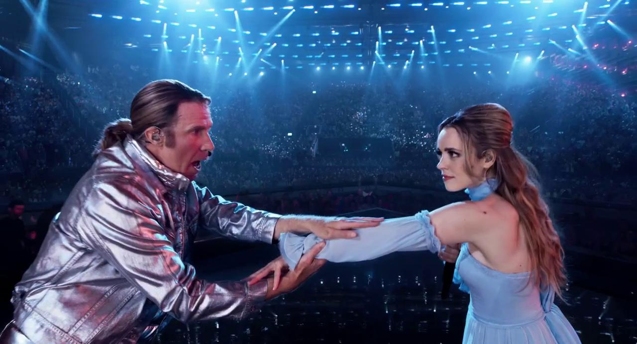 Två sångare på scen