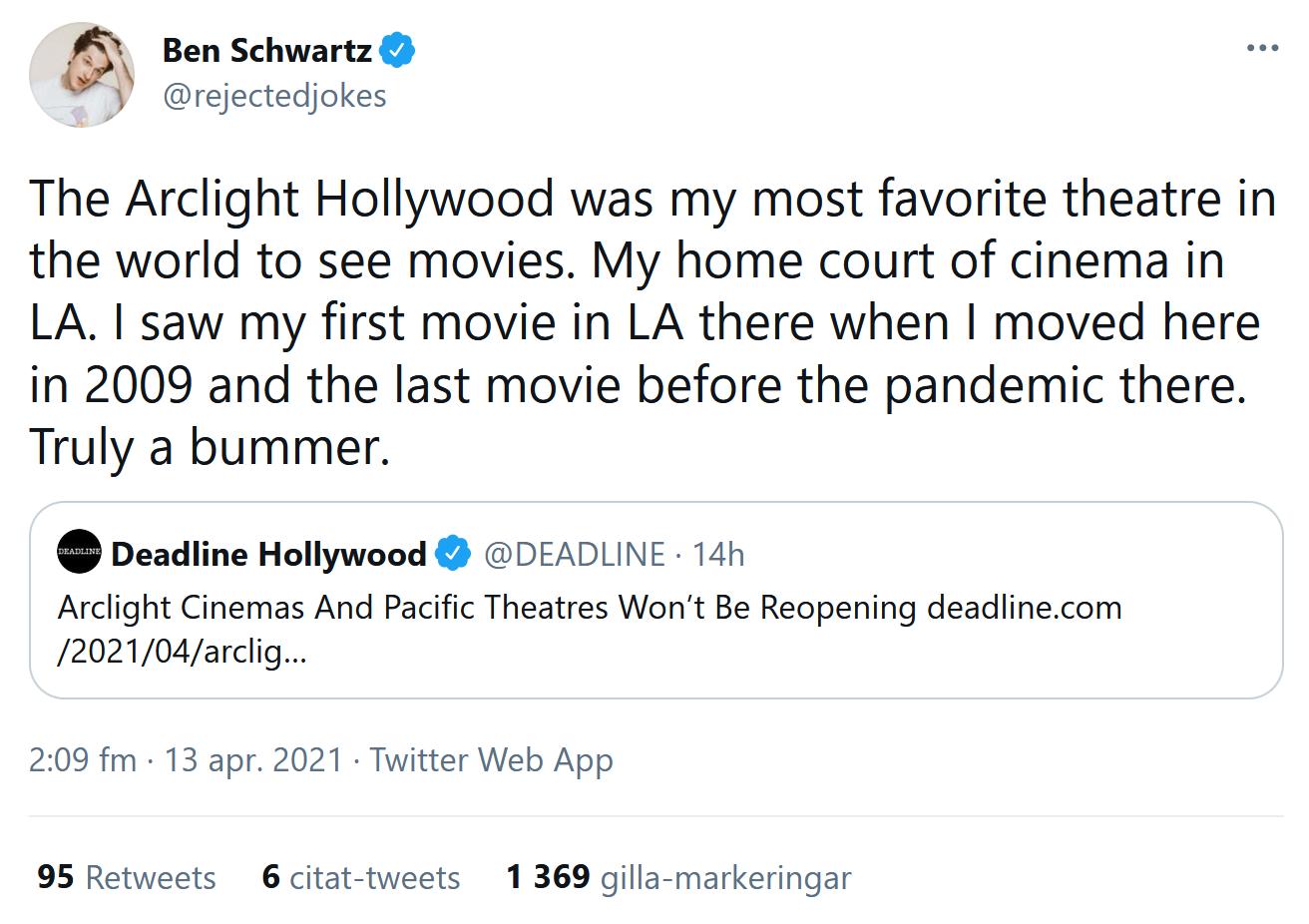 Ben Schwartz om nyheten