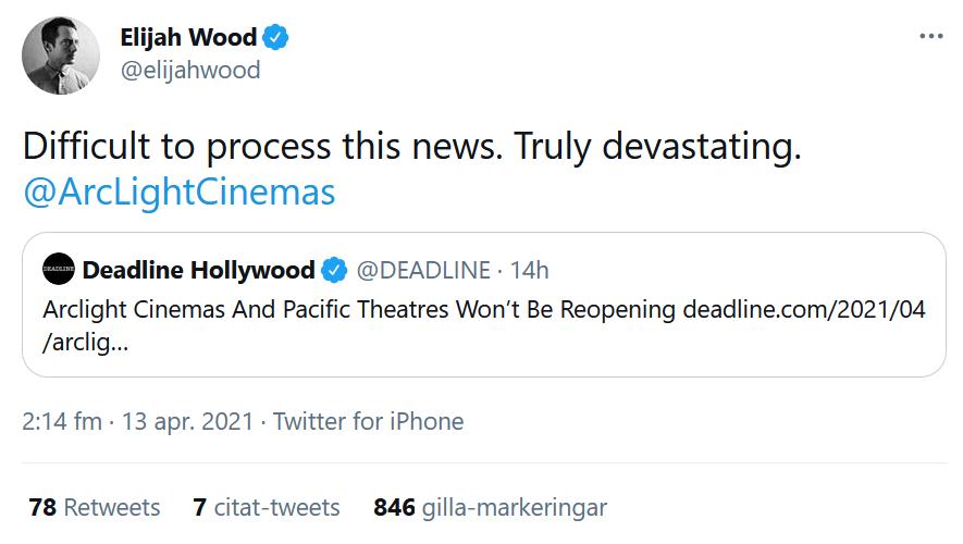 Wood twittrar om nyheten