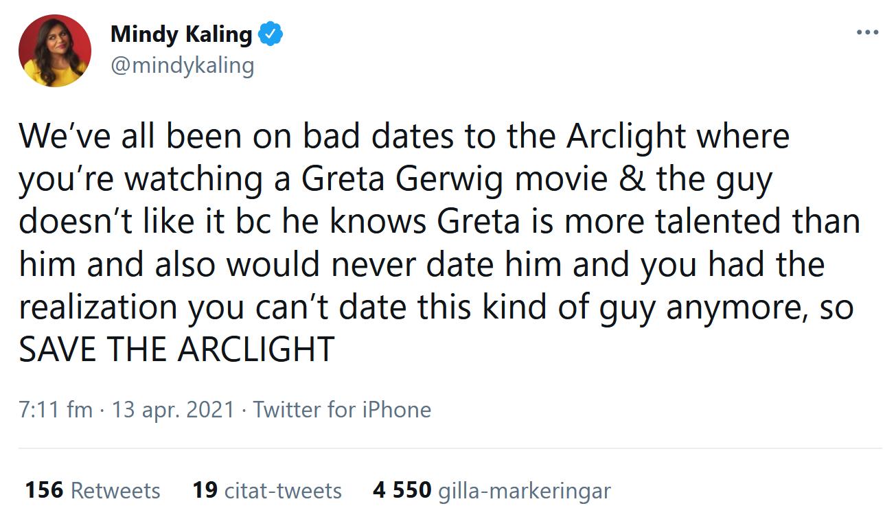 Mindy Kaling har minnen från the Arclight