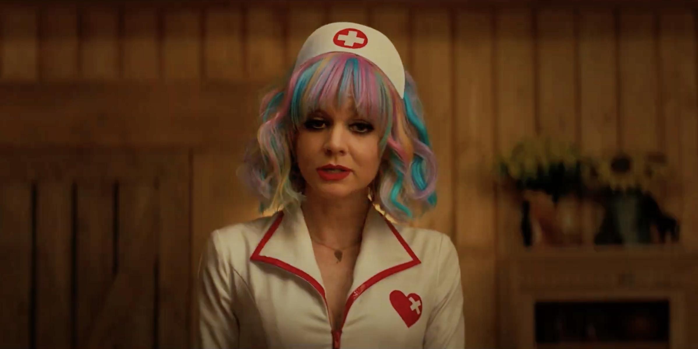 "Det här är Carey Mulligans ""Why so serious""-ögonblick i Promising Young Woman. Foto: Focus Features."