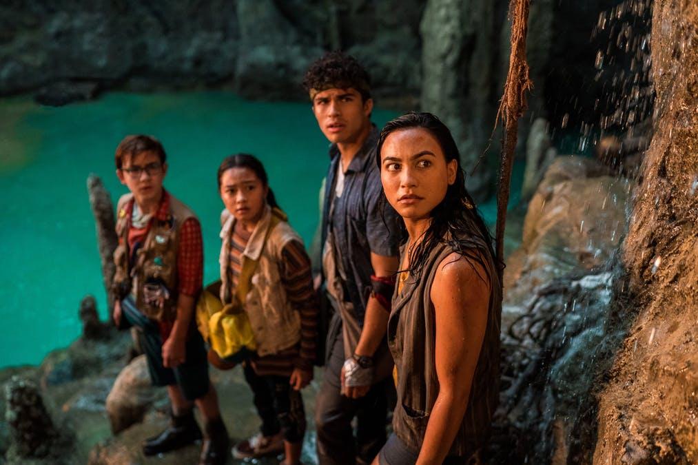 Familjen i denna äventyrsfilm