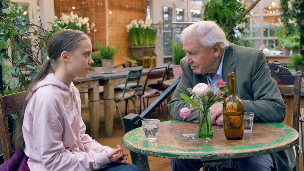 Greta Thunberg med David Attenborough.