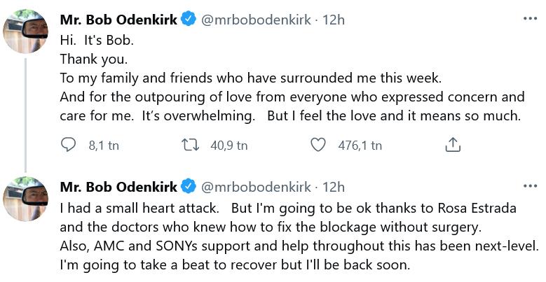 Bob Odenkirk på Twitter