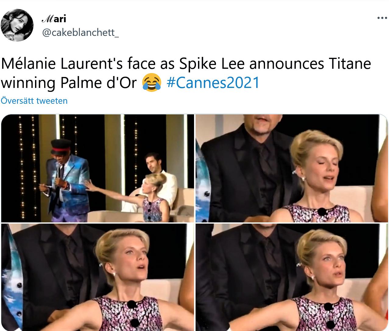 Laurent, Spike Lee - Palme d'Or på filmfestivalen i Cannes 2021
