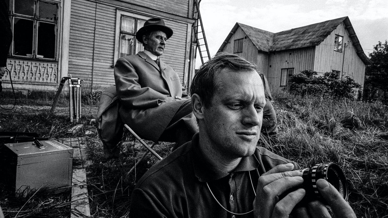 Gunnar Björnstrand och Jan Troell