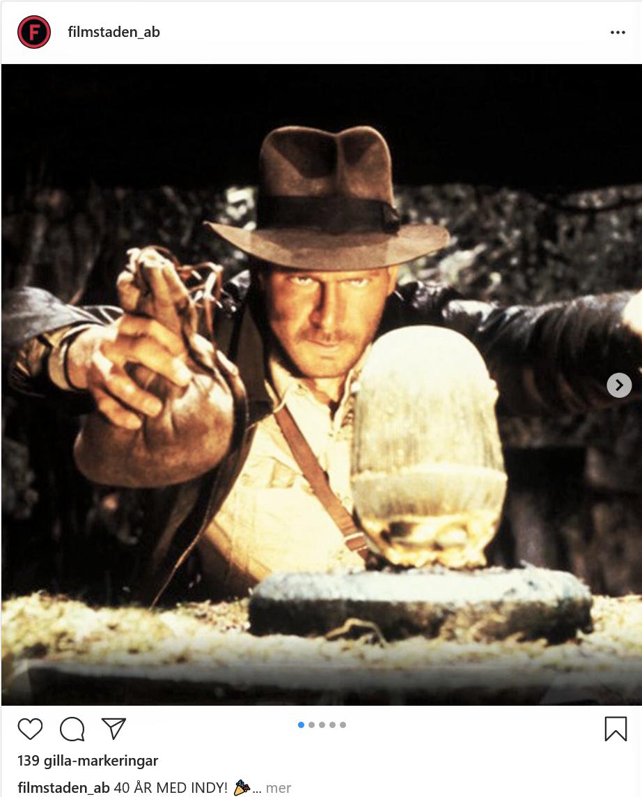Filmstaden om Indiana Jones, 40 år.