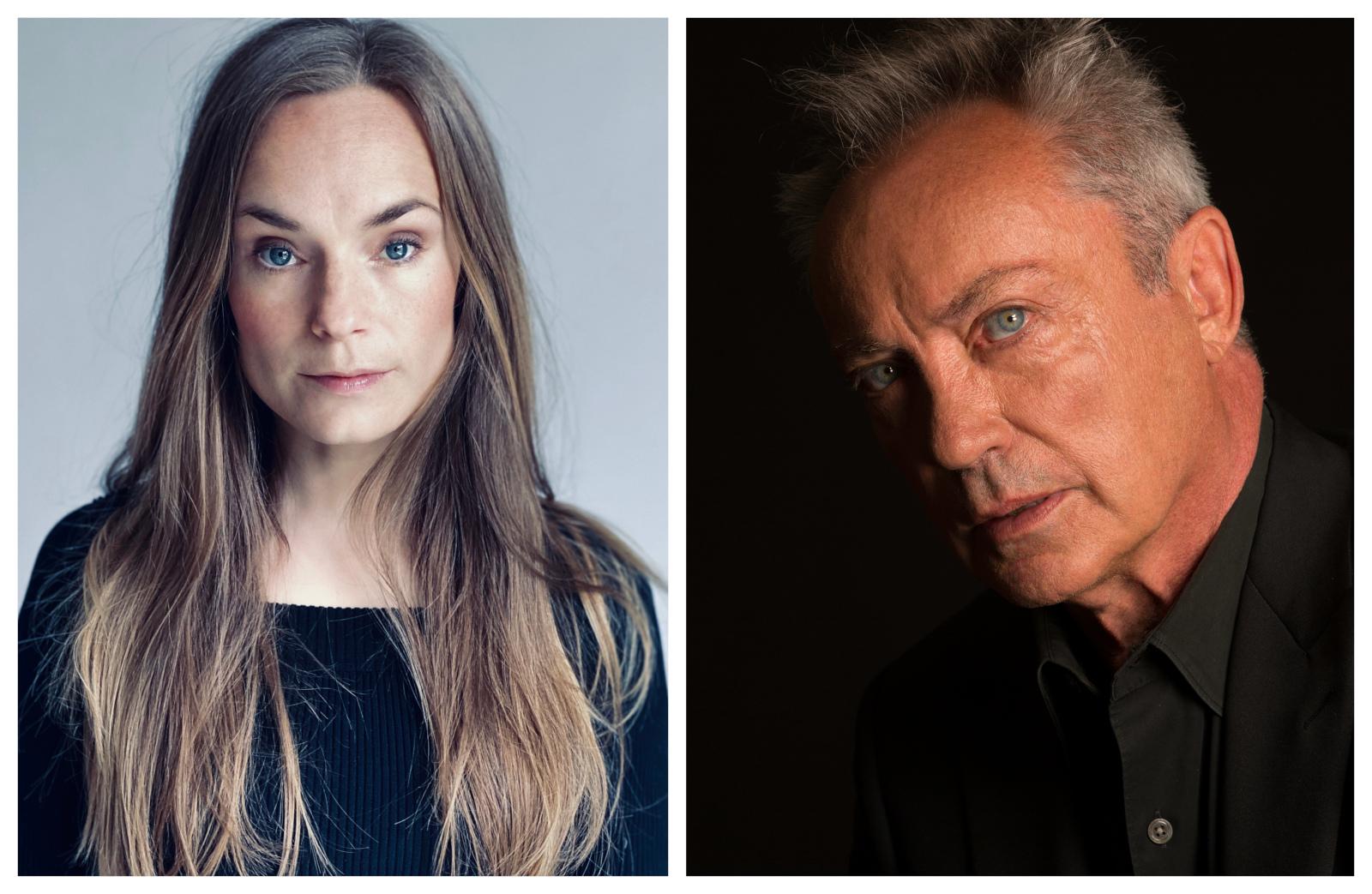 Pressbilder på Laura Christensen och Udo Kier.
