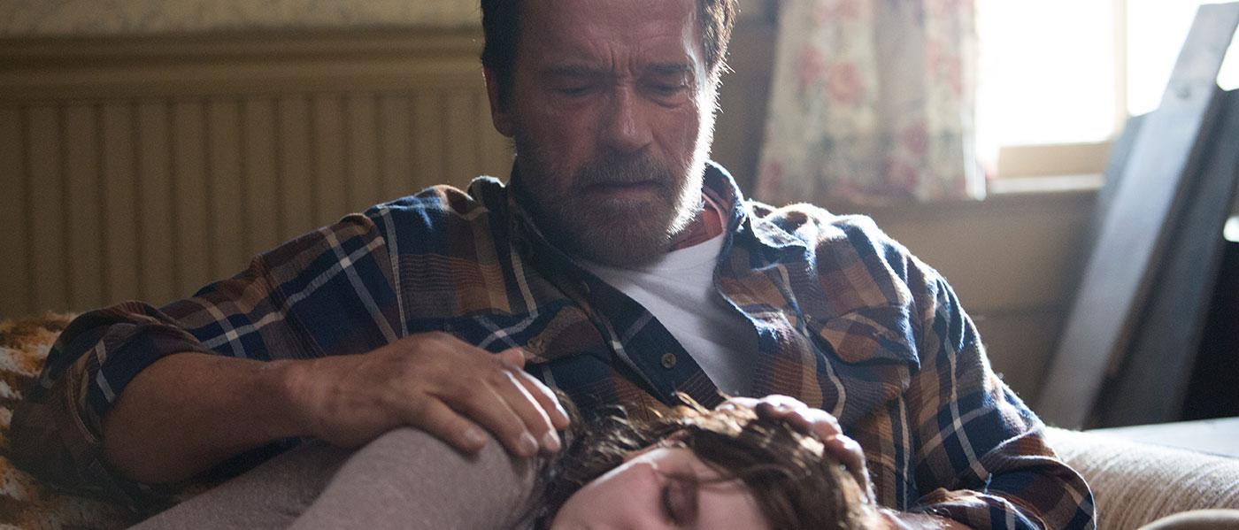 2015 spelade Arnie huvudrollen i Maggie, ett drama där han faktiskt bevisar att han kan spela mer seriösa roller. Foto: Lionsgate och Roadside Attractions.