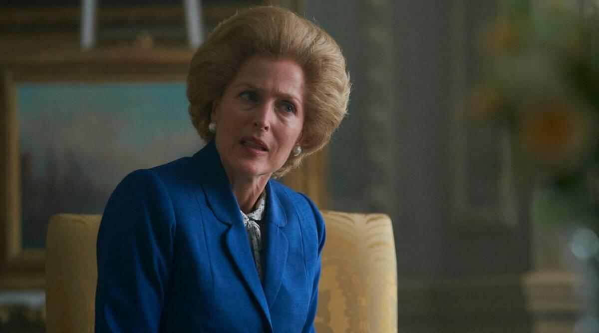 Gillian Anderson vann för sin roll som Margaret Thatcher. Foto: Netflix.